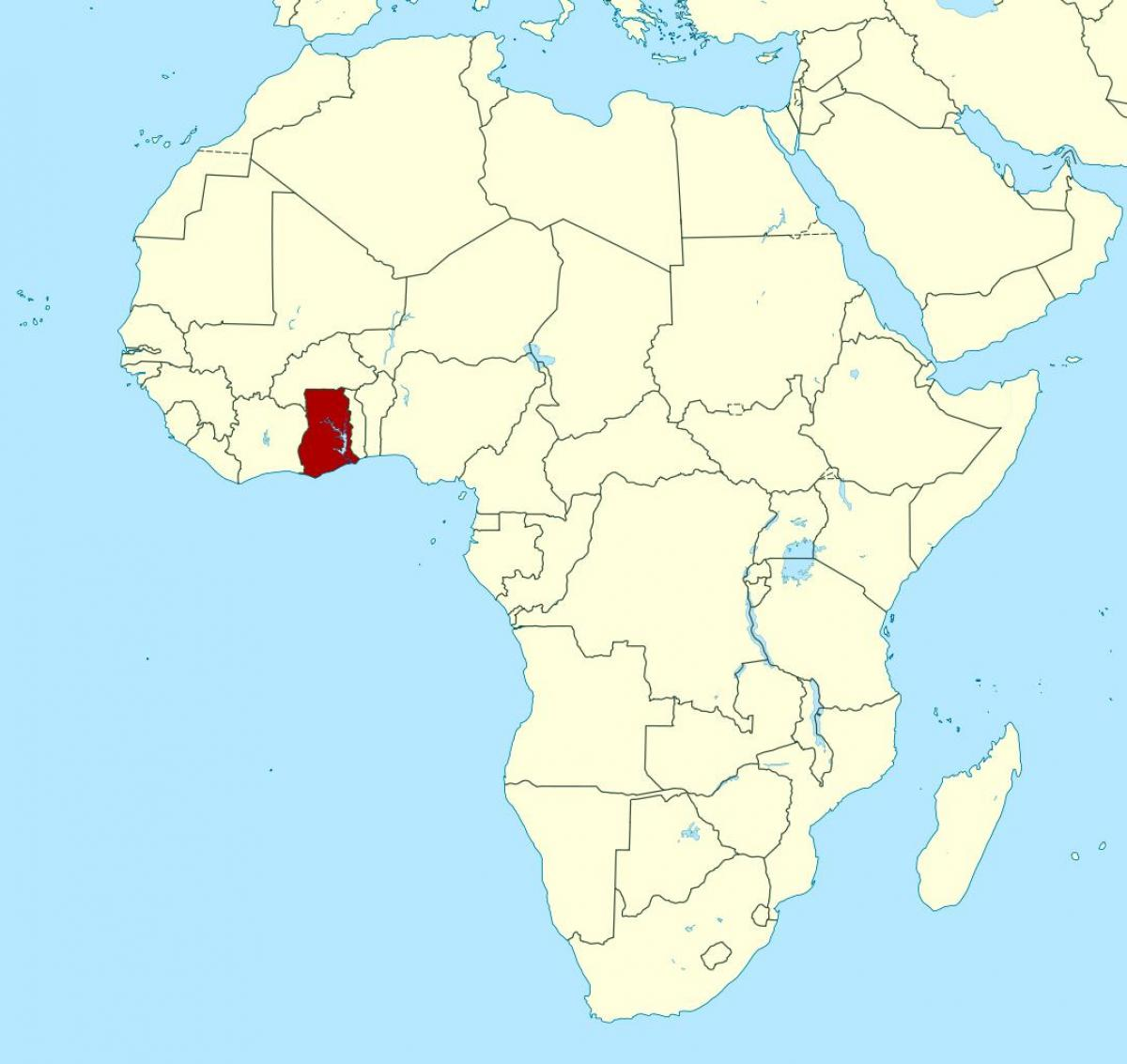 Karte Afrika.Ghana Afrika Karte Karte Von Afrika Zeigt Ghana West