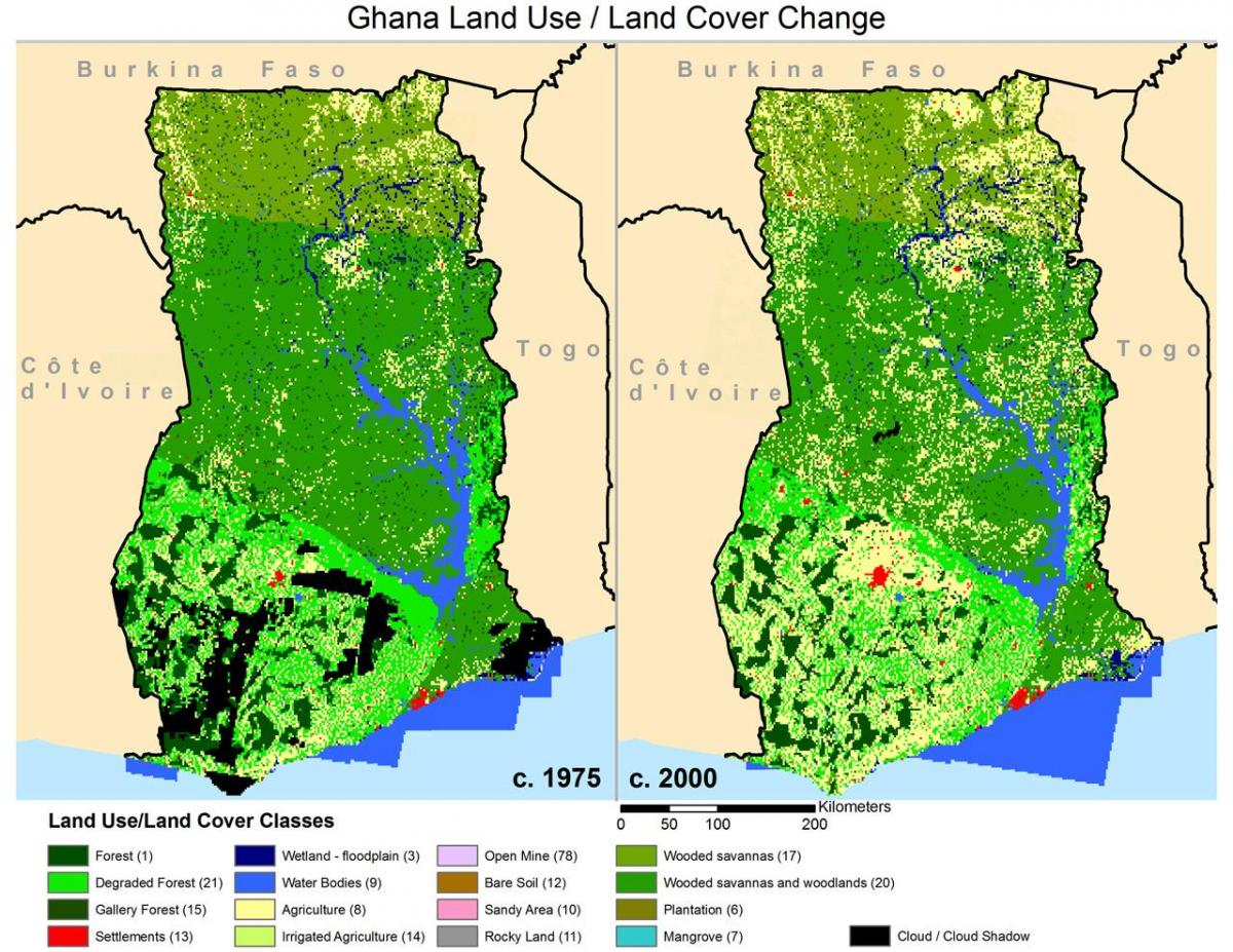 Vegetation map of ghana - Karte von ghana zeigt ...