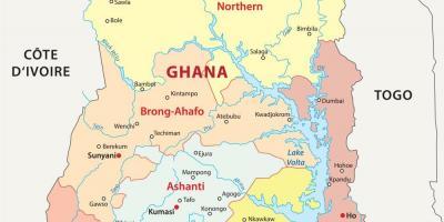 Ghana Karte.Ghana Karte Karten Ghana West Afrika Afrika
